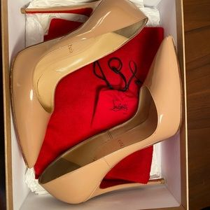 Christian Louboutin So Kate Patent Nude Pumps